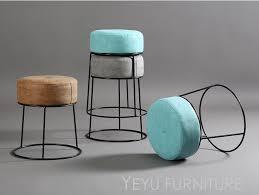 minimalistischen moderne design stapelbar metall und leder soft cover niedrigen hocker hocker schuhe hocker wohnzimmer weichen polster hocker