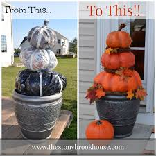 Fake Carvable Plastic Pumpkins by Diy Outdoor Real Looking Pumpkins The Stonybrook House