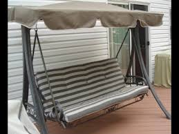 Patio Swings With Canopy Replacement by Martha Stewart Patio Swing Cushions Seat Support And Canopy