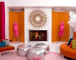 Pink And Orange Living Room Design Ideas &
