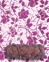 Wild Roses DIY Pattern Paint Roller 15cm Wall Texture Decoration Stencil