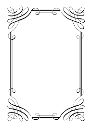 Paper Border Designs Templates Stationery Free