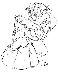 Like Other Classic Disney Films Coloring Pages On Beauty And The Beast Are