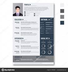 100 Resume Two Pages Vector Creative Minimalist Cv Resume Template With Two Pages