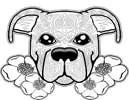 Extraordinary Dog Coloring Pages For Adults Page Free