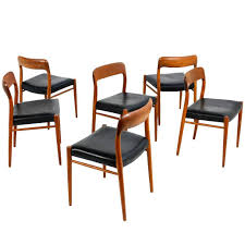 Set Of Six Danish Modern Niels Moller Mod. 75 Dining Chairs, Teak And  Leather Modern Ding Chair Tribute Collection Contemporary Danish Teak Black Leather Chairs Set Of 4 Exclusive And Marvin Midcentury Faux 2 Rosewood And Whosale Room Ideas Different Mid Century Best Ding Chairs Room Fniture Italian Mid Century Danish Modern 6 Erik Buck Rosewood Leather Emfurn Fox1705bset2 Fniture By Safavieh