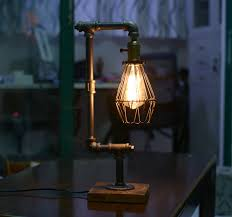 Amazon Halogen Desk Lamps by Bird Cage Designer Steampunk Water Piping Desk Top Table Lamp Real