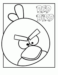 Kids Under 7 Angry Birds Coloring Pages For
