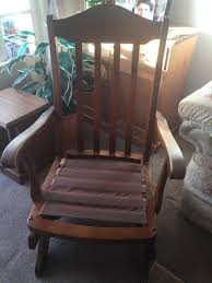 Old Rocking Chair, Removeable Cushions, Wood Worn With Use, Would Make A  Great Restoration Project | In Newcastle, Tyne And Wear | Gumtree Ancestral Rocking Chair Gio Ebony Antique Rocking Chair Sold The Savoy Flea With Sewing Drawer Collectors Weekly How To Update A Pair Of Wornout Chairs Hgtv A Country Sheraton Youth Sized Thumb Back Rocker 19th Century For Safavieh Alexei Natural Brown Acacia Wood Patio Windsor Kitchen Stripe Caning Seat Weaving Handbook Illustrated Wooden Stock Photos Upholstered Redo Prodigal Pieces