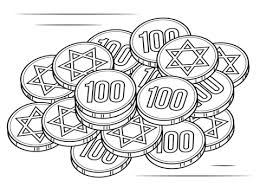 Click To See Printable Version Of Hanukkah Gelt Coloring Page