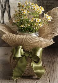 12 Burlap Vase Wraps Mason Jar Wedding Decoration Country Decor Rustic Home Via Etsy
