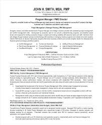 Summary Sample For Resume Project Manager Statement Executive Template