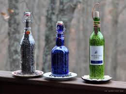 Rebecca s Bird Gardens Blog DIY Wine Bottle Bird Feeders