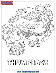 Skylanders Giants Water Series2 Thumpback Coloring Page