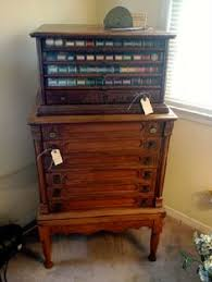 rare 6 drawer willimantic spool cabinet thread cabinet flying