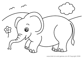 Beautiful Elephant Coloring Book