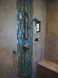 shower mosaic tiles glass tile shower floor problems glass mosaic