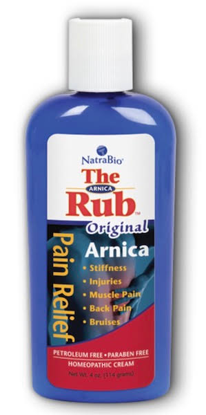 Natrabio The Arnica Rub Original Cream, 4 Fluid Ounce