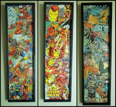 awesome comic book wall decor thor iron man and batman diy