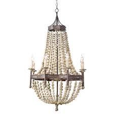 Destinations By Regina Andrew Lamps by Regina Andrew Design Lighting Wood Beaded Chandelier 16 1008