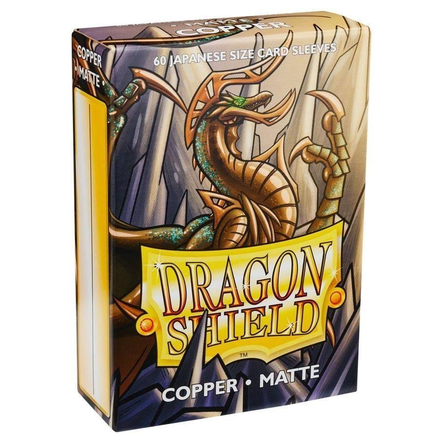 Dragon Shield Card Protector Sleeves - Matte Copper, 60ct, Japanese Size