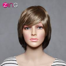 Short Synthetic Wigs Cute Short Haircuts Zing Hair High Quality