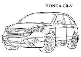Honda CR V CARS Coloring Pages