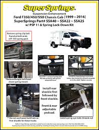 100 Sd Truck Springs Super Installation Instructions
