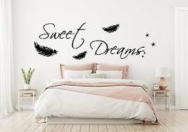süße träume deko schlafzimmer wandaufkleber wandspruch