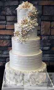 Textured Rustic Buttercream Iced Wedding Cake