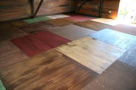 Plywood Floor Painted Flooring Is A Very Creative Idea Trailer Paint