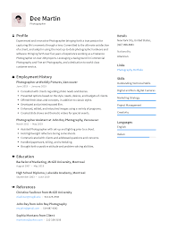 Photographer Resume Templates 2019 (Free Download) · Resume.io Leading Professional Senior Photographer Cover Letter 10 Freelance Otographer Resume Lyceestlouis Resume Example And Guide For 2019 Examples Free Graphy Accounting Sample Full Writing 20 Examples Samples Template Download Psd Freelance New 8 Beginner 15 Design Tips Templates Venngage