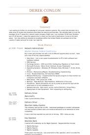 Network Administrator Resume Samples Visualcv Database Rh Com Sample For Job Objective Examples