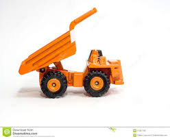 Toy Big Orange Dump Truck Stock Photo. Image Of Sites - 57307726