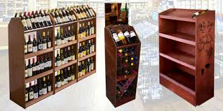 Enjoyable Wine Shelving Innovative Ideas Custom Wood Display Rack Racks Store Fixtures Retail