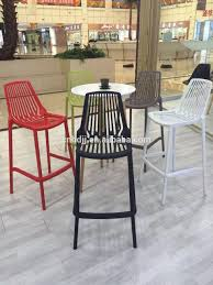 Great Plastic Bar Modern High Chairs With Footrest – Al-Stock