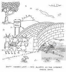 Three Billy Goats Gruff Cartoon 1 Of 5