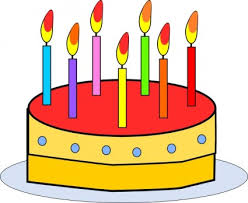Birthday cake with candles clip art Free vector for free