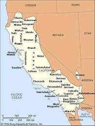 Distribution Of 4th Grade California Regions Map Printable