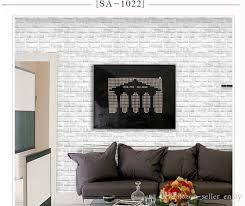 großhandel selbstklebende tapete pvc tief geprägte tapete des ziegelstein 3d moderne ziegelstein muster papier tapeten rolle für wohnzimmer