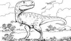 Rex Colouring In Pages Realistic T Coloring Velociraptor