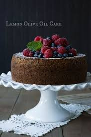 Lemon Olive Oil Cake With Amaretto Drizzle