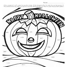 Halloween Coloring Pages With Math Imgimg