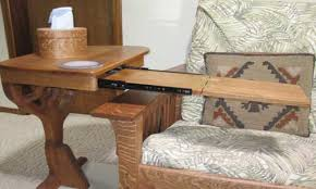 living room under sofa table tray side end wood desk chair l