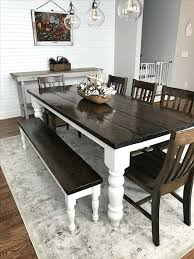 Farmhouse Kitchen Chair Plans Dining Table Farm Style Room With Bench