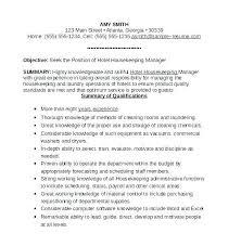 Housekeeping Supervisor Resume Sample