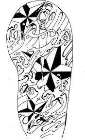 Girl Fashion Words Tribal Tattoo Arm Sleeve Designs