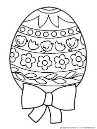 Big Detailed Design Your Own Easter Egg Featuring Chicks A Bow And Spring Flowers Website Has Eggs Bunnies Christ Is Risen Cross Coloring Sheets