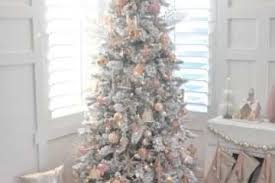 Lovely Small White Christmas Tree And Blush Pink Vintage Inspired