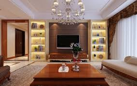 TV Wall With Display Cabinets